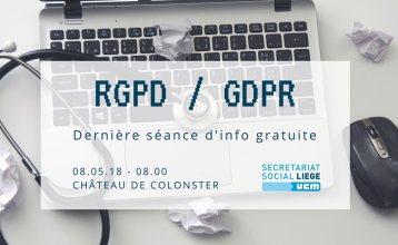 Séance d'info avant échéance du GDPR RGPD