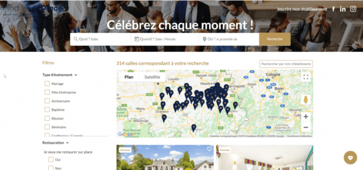 visuel du site Find Your Place